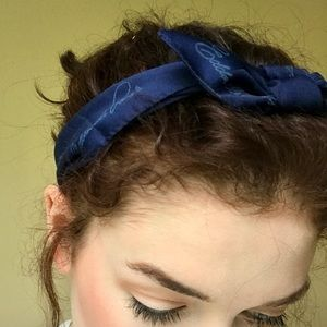 Navy Blue Headscarf
